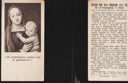 16001) PONTIFICIA OPERA PROPAGAZIONE DELLA FEDE MI CHIAMERANNO BEATA 1948 - Santini