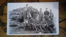 Fotografia - Gruppo Di Militari, Uniformi, Divise - Sicilia, Porto Palo, Menfi - 1942 - WWII - Non Classificati