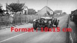 Reproduction D'une Photographie D'une Bentley N°2 De 1930 Aux 24H Du Mans - Reproductions