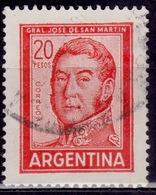 Argentina, 1967, Jose De San Martin, 20c, Sc#698A, Used - Argentina