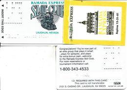 Ramada Express Casino - Laughlin, NV - Slot Club Card With Attached Sticker - Casino Cards