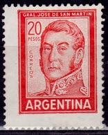 Argentina, 1967, Jose De San Martin, 20c, Sc#698A, MNG-no Gum - Argentina