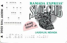 Ramada Express Casino - Laughlin NV - Slot Card With Raised Printing - Casino Cards