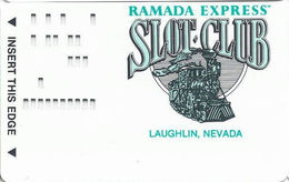 Ramada Express Casino - Laughlin NV - Slot Card With NO Printing (Punched Holes Only) - Casino Cards