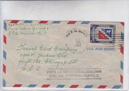 AIRMAIL. CIRCULEE REP DOMINICANA TO USA. 1947. BANDELETA PARLANTE.-BLEUP - Dominicaanse Republiek