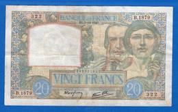 20  Fr  Du  5/12/1940 - 1871-1952 Circulated During XXth