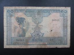 BILLET LAOS (V1719) 10 Dix Kip (2 Vues) Banque Nationale Du Laos - Laos