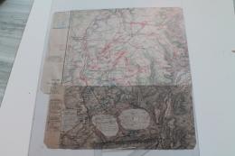 Carte Anotée De La Journée Du 16 Aout  De La Guerre De 1870 - Documents