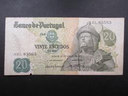 BILLET PORTUGAL (V1719) VINTE 20 ESCUDOS (2 Vues) 27/07/1971 - Portugal