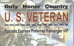 Ramada Express Casino - Laughlin, NV - BLANK Veterans Slot Card - Casino Cards