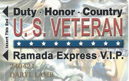 Ramada Express Casino - Laughlin, NV - Veterans Slot Card / Cash Express - Casino Cards
