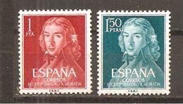 España/Spain-(MNH/**) - Edifil  1328-29 - Yvert 1005-06 - 1961-70 Unused Stamps