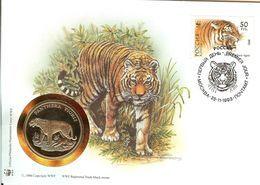 WWF NUMISBRIEF, RUSSLAND, Tiger   /  COIN COVER, RUSSIA, Tiger   /  ENVELOPPE NUMISMATIQUE, RUSSIE, Tigre 1993 - W.W.F.