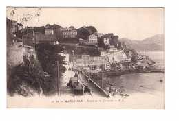 Tram Tramway Marseille Route De La Corniche Correspondance Militaire 1917 - Tramways