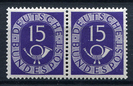 41030) BUND Waagerechtes Paar 15 Pfg. Posthorn Postfrisch Aus 1951, 120.- € - Neufs