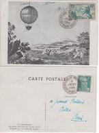 Carte Maximum Avec N°313 Pilatre De Rozier Oblitérée Centenaire Du Timbre 1949 - 1930-39