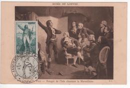 Carte Maximum Avec N°314 Rouget De Lisle Oblitérée Anniversaire Libération Dijon 1946 - 1930-39
