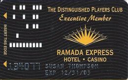 Ramada Express Casino - Laughlin, NV - Executive Member Slot Card - Casino Cards