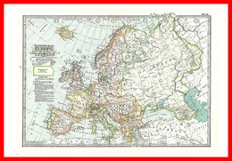 CPSM/gf Carte Postale Vintage Maps.   EUROPE...F643 - Carte Geografiche