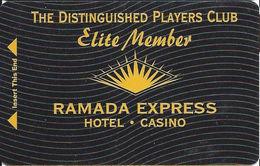 Ramada Express Casino - Laughlin, NV - BLANK Elite Member Cash Express Slot Card - Casino Cards