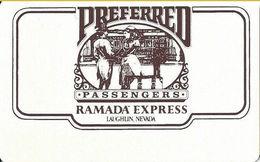 Ramada Express Casino - Laughlin, NV - BLANK Preferred Passengers Slot Card - Casino Cards