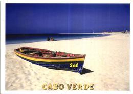Cabo Cape Verde Santa Maria Island Boat Bateau De Peche Postcard - Cape Verde