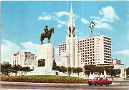 Lorenço Marques - Praça Mouzinho De Albuquerque - Renault 8 - 1960/70s Postcard - Mozambique
