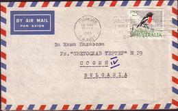 Australia Cover To Bulgaria  Usage 25c Bird Scarlet Robin - Briefe U. Dokumente