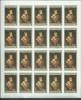 Aden States Mahra 1967 50 Fils Van Orley Painting Imperforate Sheet Of 25 MNH - Yemen