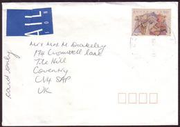 Australia Cover UK - Card Rate 90c Christmas 1991 - 1990-99 Elizabeth II
