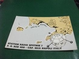 STATION RADIO SPUTNIK I° NAPOLI CARTA GEOGRAFICA GOLFO DI NAPOLI SATELLITE - Radio Amatoriale