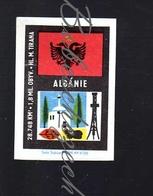 73-65 CZECHOSLOVAKIA 1968  Albania  Old National Flag Flagge  Drapeau National Ensena ,capital City,area - Scatole Di Fiammiferi - Etichette