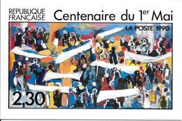 2644 -CENTENAIRE DU 1er MAI , Représenté Sur Carte Postale, émis Le 1er Mai 90 - Jean Maxime Relange - TB - Frankreich