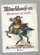 MÜNCHHAUSENS , Abenteuer Zu Lande ,46 Pages ,illustrations ,1961, Base Léxicale En Français , Frais Fr 2.85e - School Books