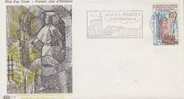 Enveloppe   Flamme   Du   1er   Jour    Libération  Des  Prisonniéres  Huguenotes  AIGUES  MORTES   1968 - FDC