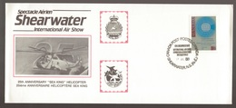 1988 Canada SHEARWATER International Air Show SEA KING Helicopter Comm Cover - 1953-.... Regno Di Elizabeth II