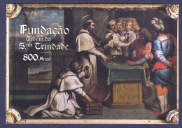 2.- PORTUGAL 2018 POSTAL STATIONERY 800 YEARS  FOUNDATION  ORDER HOLY TRINITY - Christianisme