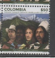 COLOMBIA ,2017, MNH, COFFEE GROWERS, COFFEE, MOUNTAINS, 1v - Drinks