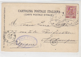 Karte Aus ROMA Ferrovia 19.10.1903 Nach Antwerpen / Belgien - AK-Via Appia Antica 33 ROMA - Poststempel