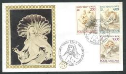 1982 VATICANO FDC FILAGRANO GOLD SANTA TERESA D'AVILA NO TIMBRO ARRIVO - KV15 - FDC