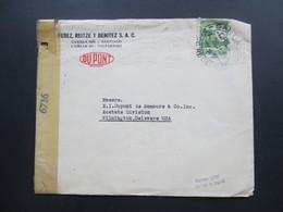 Zensurbeleg Chile 1944 Du Pont. Nach Delaware USA Opened By Censor 6716. Business Letter - Chile