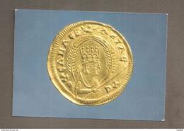 MONETA  RE OUSANAS I  MONNAIS AXOUMITE ETIOPIA  CARTOLINA  NON VIAGGIATA - Monete (rappresentazioni)