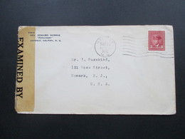 Zensurbeleg Kanada 1942 Examined By DB / C. 111 Reverend Edward Morris Ferncrest Halifax - 1937-1952 George VI