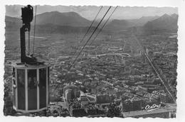 GRENOBLE EN 1952 - N° 1014 - LE TELEFERIQUE DE LA BASILIQUE AVEC PERSONNAGES - FORMAT CPA NON VOYAGEE - Grenoble