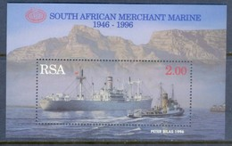 F160- South Africa 1996. 50 Year Of South African Merchant Marine. Ship. Mountains. - Ships