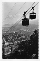 GRENOBLE - N° 1018 - LE TELEFERIQUE DE LA BASILIQUE - CROISEMENT DES DEUX BENNES - FORMAT CPA NON VOYAGEE - Grenoble