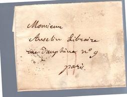 1826 Marbot Je Vous Prie à Une Faire Tenir Le Journal Militaire > Auselin Libraire Rue Dauphine 9 (EO7-18) - Marcophilie (Lettres)