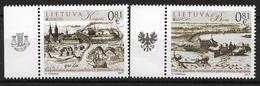2017 Litauen Lietuva Mi. 1250-51  **MNH   Europa: Burgen Und Schlösser. - 2017