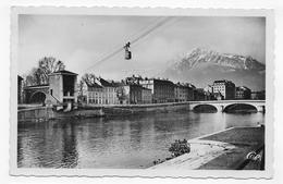 GRENOBLE EN 1952 - N° 219 - LE TELEFERIQUE - LES QUAIS ET LE MOUCHEROTTE - FORMAT CPA NON VOYAGEE - Grenoble