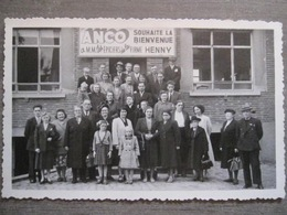 Rare Cpa Photo Turnhout (?) Usine Farine Pâte ANCO - Bienvenue Aux épiciers De La Firme Henny - Antoine Coppenslaan? - Turnhout